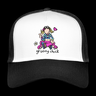 'groovy chick' - Chill - Trucker Cap