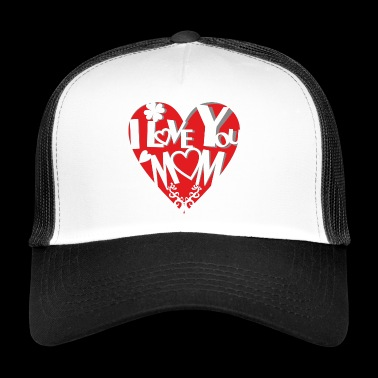 Sweet cut out heart - mother's love - Trucker Cap