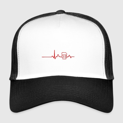 ECG HEART LINE BEER red - Trucker Cap