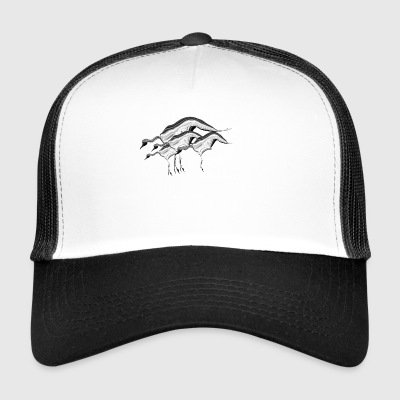 Lucky birds Cranes - Trucker Cap