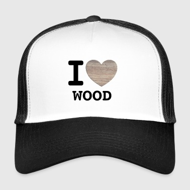 I love wood - black - Trucker Cap