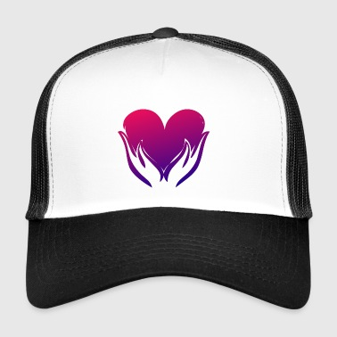 Heart illustration - Trucker Cap