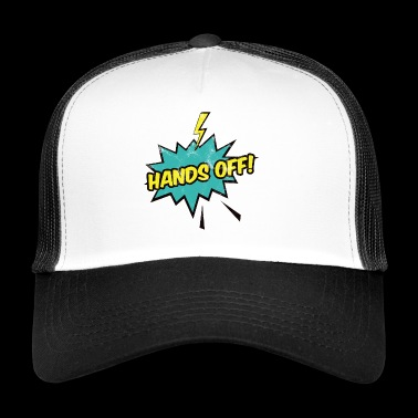 Pop Art / komiksu: Hands Off - balon - Błyskawica - Trucker Cap