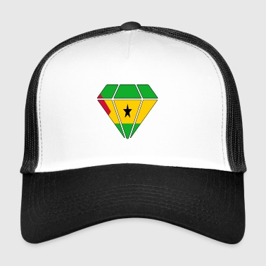 Gift diamond home roots Sa o Tome and Pr - Trucker Cap