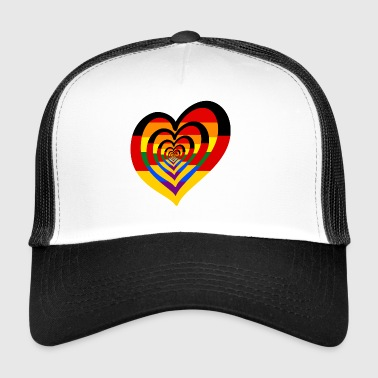 German Rainbow Heart - Trucker Cap