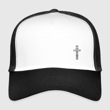 To Sin W text - Trucker Cap