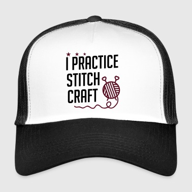 I practice stitch craft - Trucker Cap