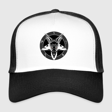 Baphomet Sigil Red Eyes - Trucker Cap