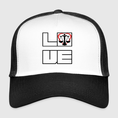 Love love lawyer justice justice - Trucker Cap