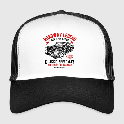 CLASSIC SPEEDWAY - Retro Car and shirt design auto - Trucker Cap