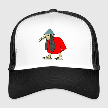 Asian birdman cartoon asian funny gift - Trucker Cap