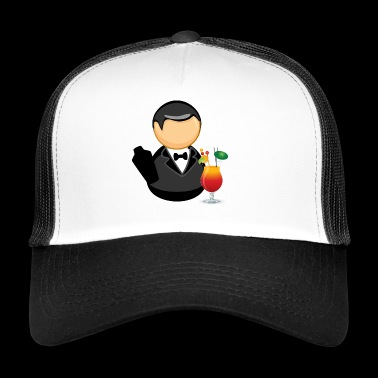 Barkeeper mit Cocktail - Trucker Cap