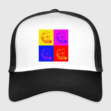Albert Einstein x 4 - Trucker Cap