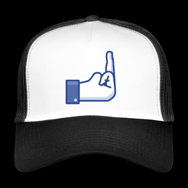 middle finger - Trucker Cap