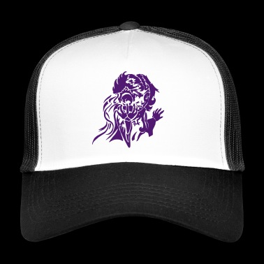 Gnom magician with fireball RPG fantasy vector - Trucker Cap