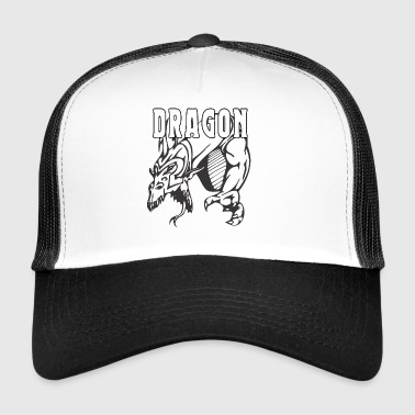 dragon attacking - Trucker Cap