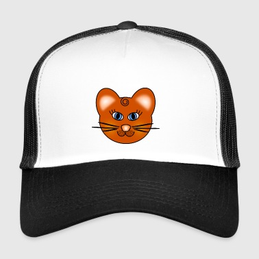 Cat with blue eyes - Trucker Cap