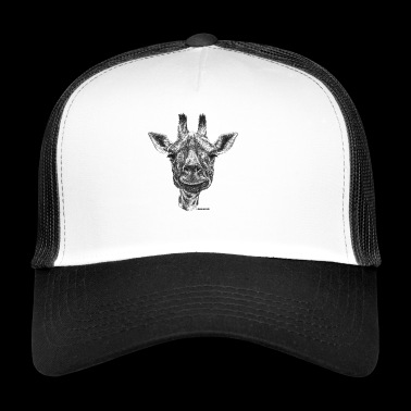 Scribbled Giraffe - Trucker Cap