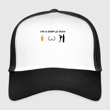 simple man boobs bier beer titten astronomie astro - Trucker Cap