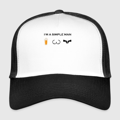 eenvoudige man boobs bier bier borsten wapen sheriff we - Trucker Cap