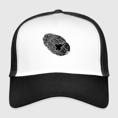 fingerprint dns dna gift electrician - Trucker Cap