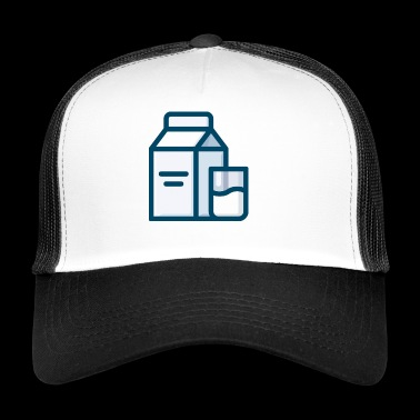 Milk milk carton milk carton glass - Trucker Cap