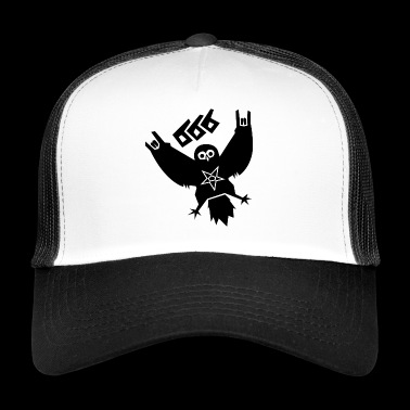 Black Metal Owl - Trucker Cap