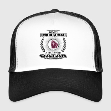 Never Underestimate Man Roots QATAR png - Trucker Cap