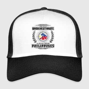 Never Underestimate Man Roots PHILIPPINES png - Trucker Cap