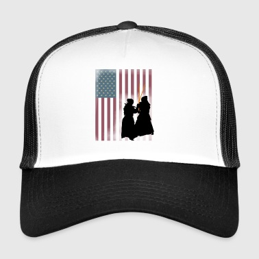 kampfsport Reiki Sport Japan USA Flagge - Trucker Cap