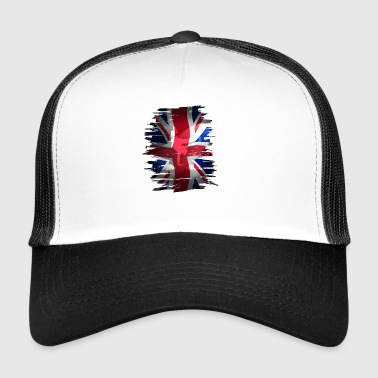 Union Jack britain flag Stunt England destroyed ro - Trucker Cap