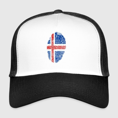 Fingerprint i love Iceland iceland - Trucker Cap