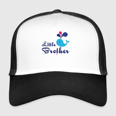 Little Brother. Whale, sea, anchor. Personalise - Trucker Cap