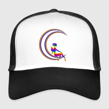 Moon with fairy - Trucker Cap