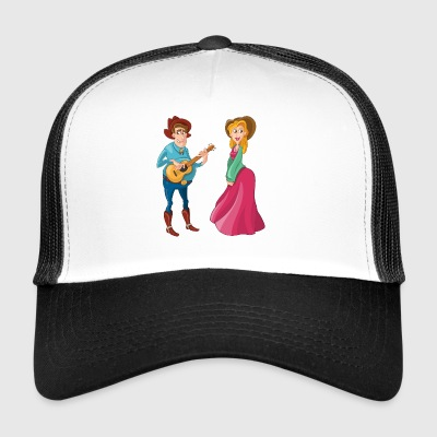 Wetern Couple - Trucker Cap