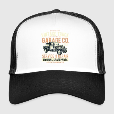 VINTAGE TRUCK- Vintage Pick Up Truck LKW Car Shirt - Trucker Cap
