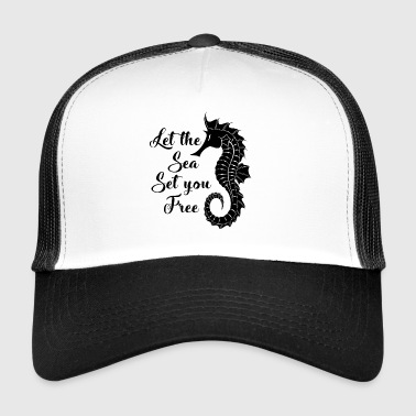 Love the sea. Nautical.Cool Seaside Gifts.Seahorse - Trucker Cap