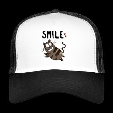 Sourire Cheshire Cat - Chat - Chats - Coeur - Chat - Trucker Cap