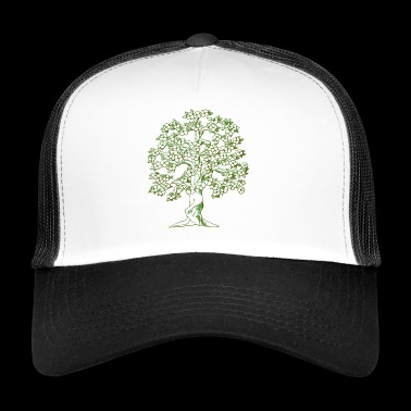 Tree drawing - Trucker Cap