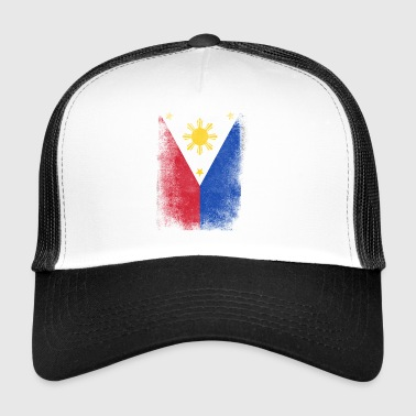 Philippines Filipino Flag Proud Vintage Distressed - Trucker Cap
