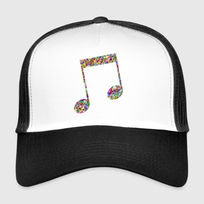 Musical note - Mosaic - Trucker Cap