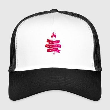 My Love Is Your Love lint liefde roze vintage flam - Trucker Cap