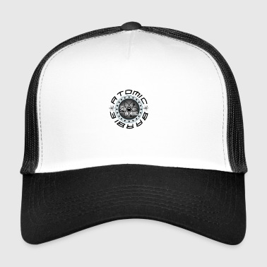 Atomic Barb Silv Workout Fitness Gym Bodybuilding - Trucker Cap