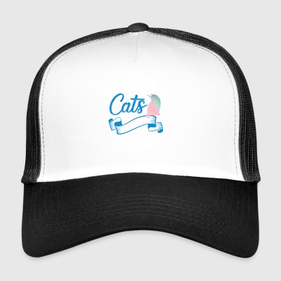 Unicorn Cats Are Born In August - Trucker Cap