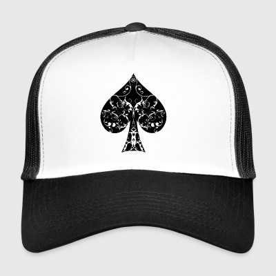 Pik Karte Symbol Tribal Poker Ass Hold´em - Trucker Cap