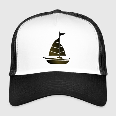 paddle boat sail boat rowing boat sailboat54 - Trucker Cap