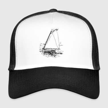 paddle boat sail boat rowing boat sailboat51 - Trucker Cap