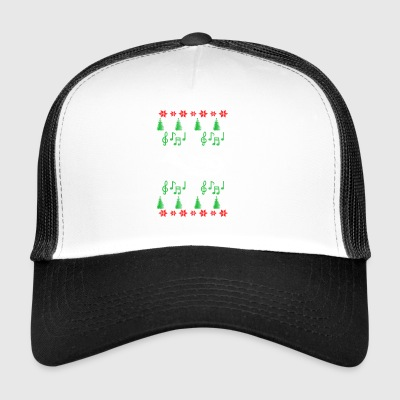 Baritone Ugly Christmas musical instrument - Trucker Cap