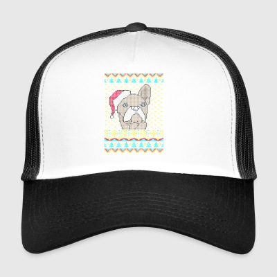 Ranskanbulldoggi Ugly Christmas Sweater lahjat - Trucker Cap