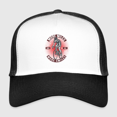 Cycling More Miles Smiles - Trucker Cap